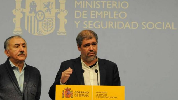 Sindicatos UGT y CCOO Unai Sordo y Pepe Álvarez